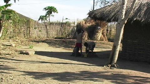 0841 African Childern Stock Video Footage