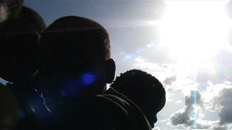 0845 Happy African Children Having Fun 2 Footage