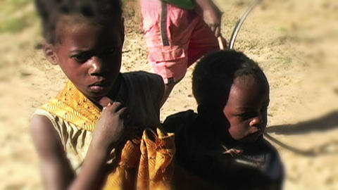 0851 African Children Stock Video Footage