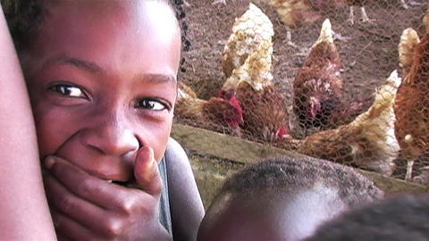 0853 Into an African Child Eyes Stock Video Footage