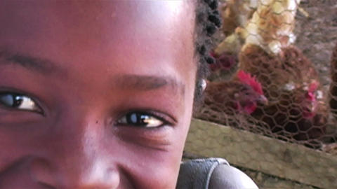 0853 Into an African Child Eyes Footage