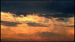 Cloudy sky on sunset Stock Video Footage
