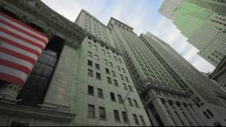 Stock Exchange building exterior, New York City Stock Video Footage