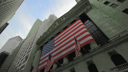Stock Exchange building exterior, New York City Footage