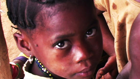0868 Into the Eyes of an African Child Stock Video Footage
