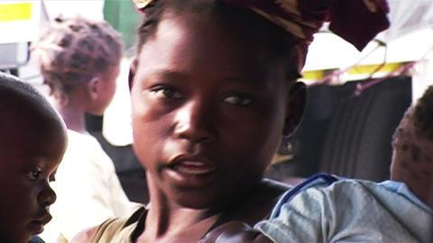 0871 African Children Stock Video Footage