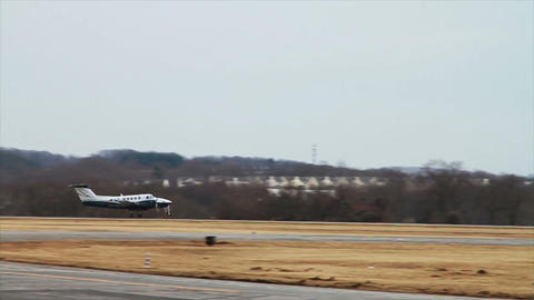 0934 Airplane Taking Off, Slow Motion Stock Video Footage