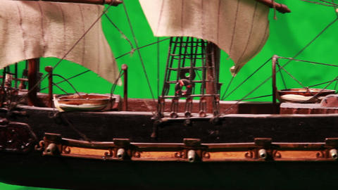 0970 Pirate Sailboat with Green Screen Footage