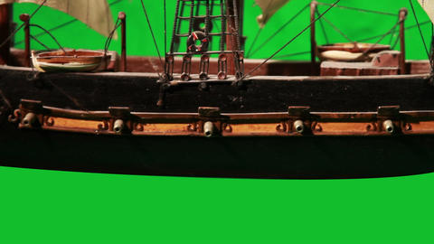 0972 Pirate Sailboat with Green Screen Footage