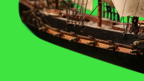0974 Pirate Sailboat with Green Screen Footage