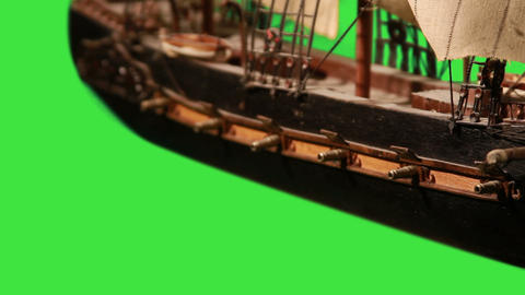 0974 Pirate Sailboat with Green Screen Stock Video Footage