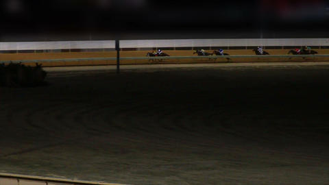 Horses Racing Down the Track in Slow Motion 2 Footage