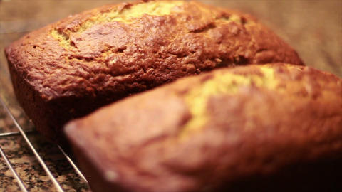 0707 Banana Nut Bread Stock Video Footage
