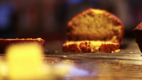Banana Nut Bread and Butter Footage