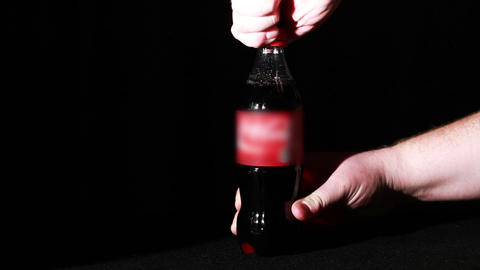 Soda Bottle Being Open Up Stock Video Footage