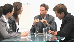 Business team working together during a meeting Stock Video Footage