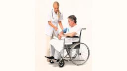 Senior man has a nurse visit Footage