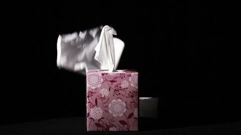0647 Falling Tissues on Box in Slow Motion , Being Footage