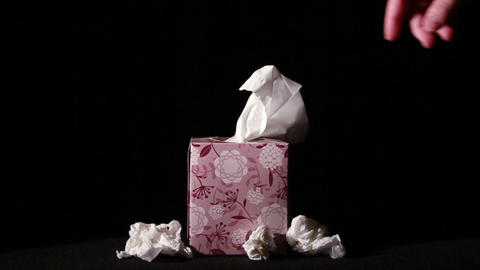 0649 Pulling Tissues from Box in Slow Motion , Bei Stock Video Footage