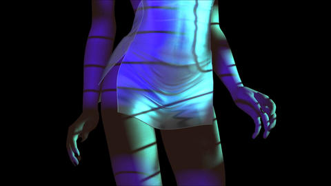 Animation Of A Dancing Female stock footage