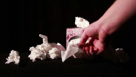 0655 Pulling Tissues from Box in Slow Motion , Bei Stock Video Footage