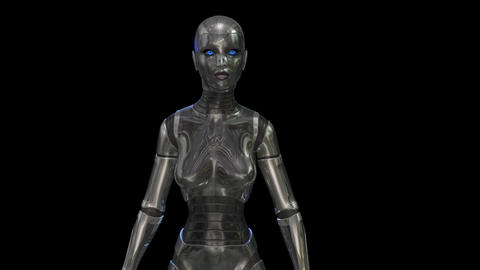 Amination of a female Cyborg Animation