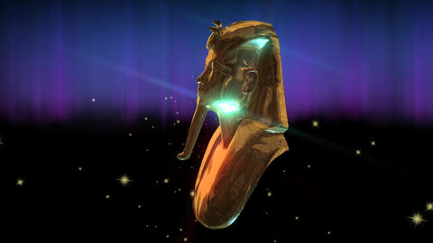 Animation Of Tut Anch Amun stock footage