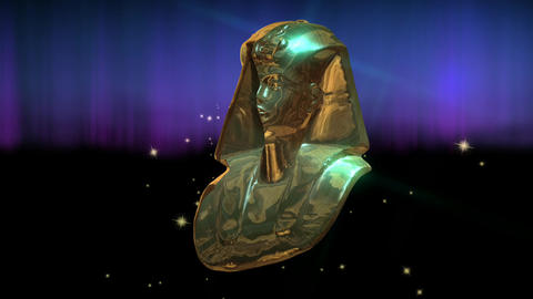 Animation of Tut Anch Amun Stock Video Footage
