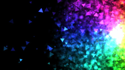 Colorful Particle Background - Loop Rainbow 4K Animation