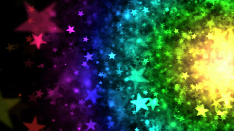 Colorful Star Particle Background - Loop 4K Animation