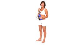 Good looking woman in sportswear drinking water Stock Video Footage