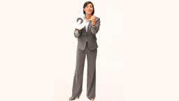 Businesswoman giving orders through a megaphone Stock Video Footage