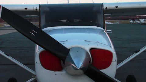 Airplane, Close Up of Propellor Footage