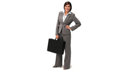 Pretty businesswoman holding a briefcase Stock Video Footage