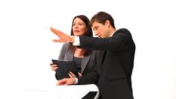 Business people speaking Stock Video Footage