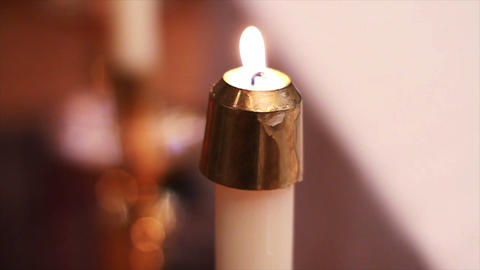 0690 Candles at Church Footage