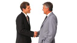 Two businessmen shaking hands Stock Video Footage