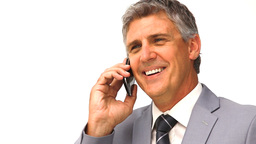 Businessman taking a phone call Footage