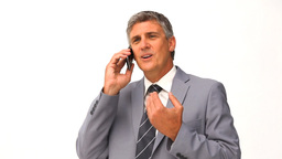 Businessman making a call Footage