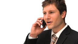 Young businessman making a phone call Stock Video Footage