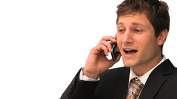 Young businessman making a phone call Footage