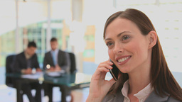Woman dressing in a business suit Footage