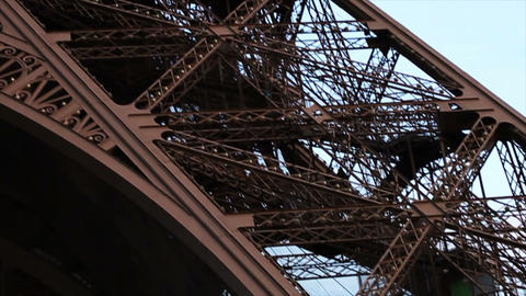 0777 Eiffel Tower Paris France Stock Video Footage