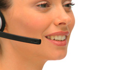 Close up of a businesswoman in a call center Footage