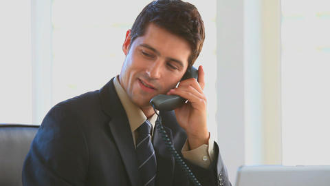 Businessman making a phone call Stock Video Footage