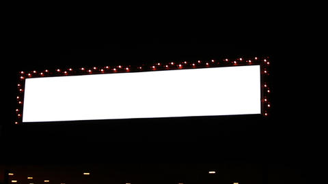 0796 Flashing Lights Movie Sign Footage