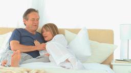 Elderly couple talking Stock Video Footage