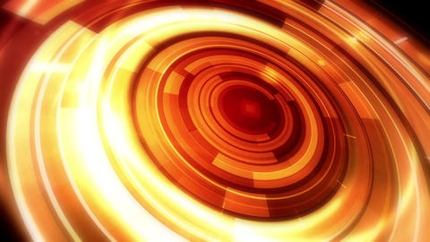 Rotating Golden Orbit stock footage