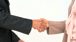 Hands of two business people Stock Video Footage