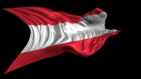 Flag of Austria Animation